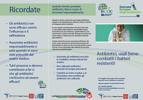 brochure antibiotici fronte